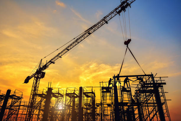 Chantier de construction d'un immeuble neuf