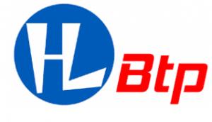 Logo bleu et orange de l'entreprise HL-Btp