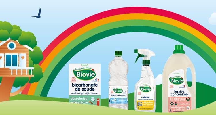 Produits ménagers naturels de la marque Biovie
